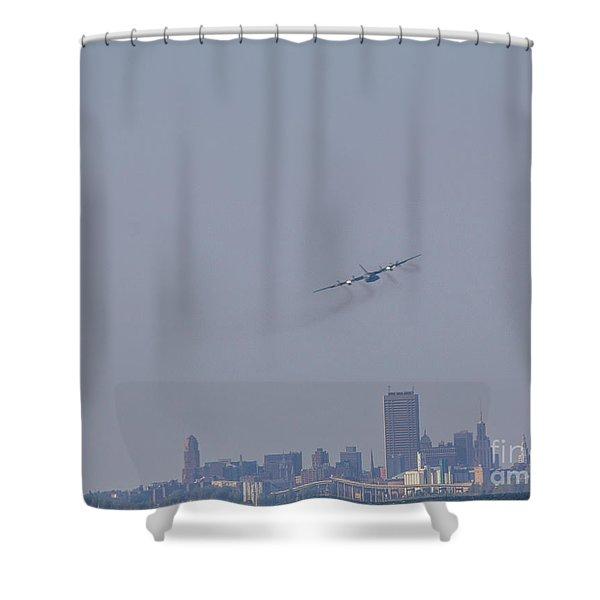 C130 Over Buffalo Shower Curtain