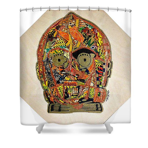 C3po Star Wars Afrofuturist Collection Shower Curtain