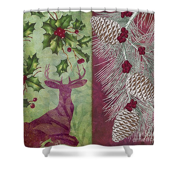 Cabin Christmas I Shower Curtain