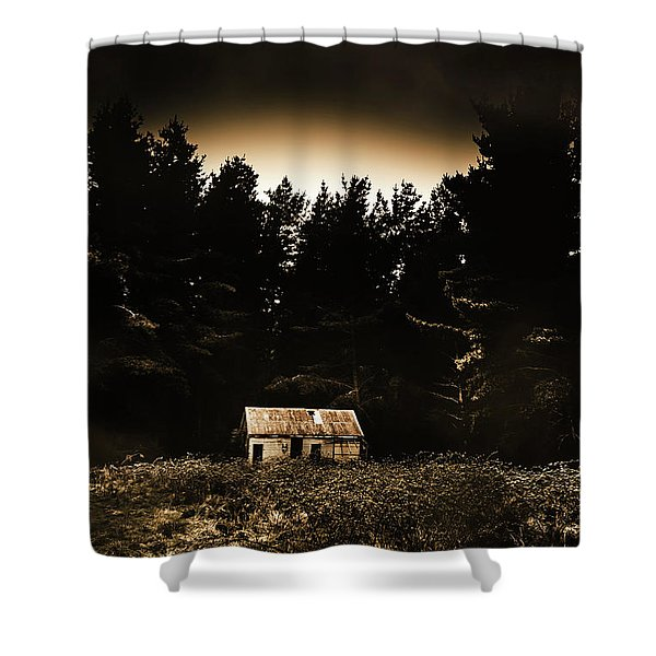 Cabin In The Woodlands  Shower Curtain