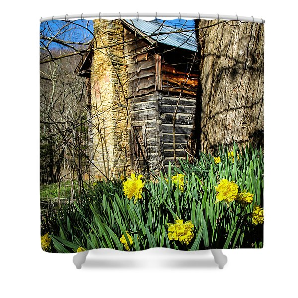 Cabin Spring Shower Curtain