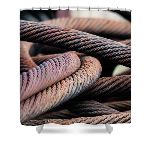 Cable Chaos Shower Curtain