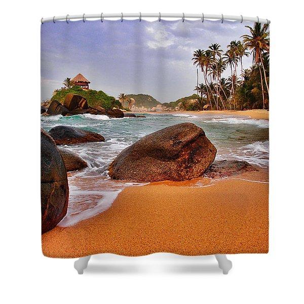Cabo San Juan Shower Curtain