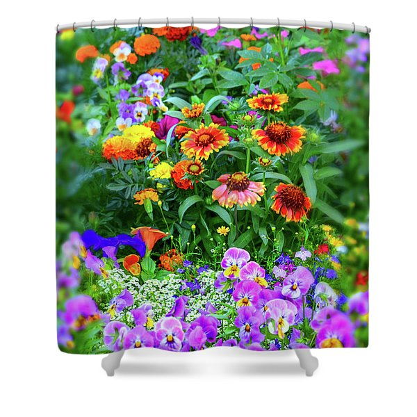 Summer Symphony Of Color Shower Curtain