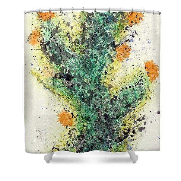Cactus Bloom - Art By Jim Whalen Shower Curtain