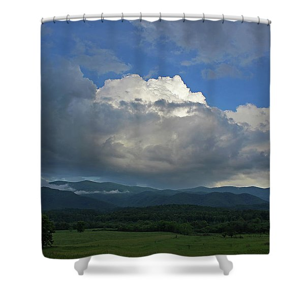 Cades Cloud Shower Curtain