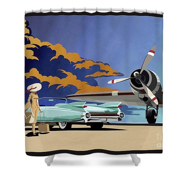 Cadillac Eldorado 1959 Shower Curtain
