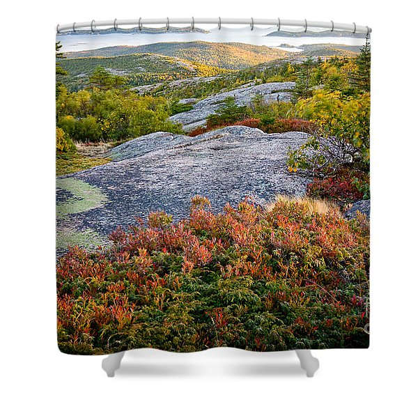 Cadillac Rock Garden Shower Curtain