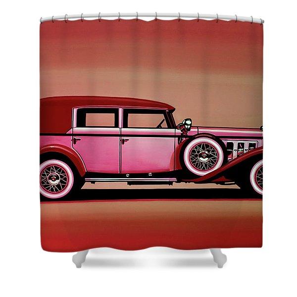 Cadillac V16 Mixed Media Shower Curtain
