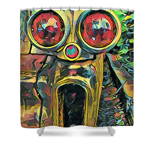 Cadillacasauraus Shower Curtain