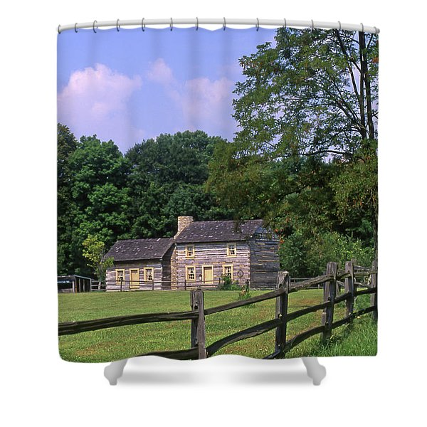 1e140 Caesar Creek Pioneer Village Photo Shower Curtain