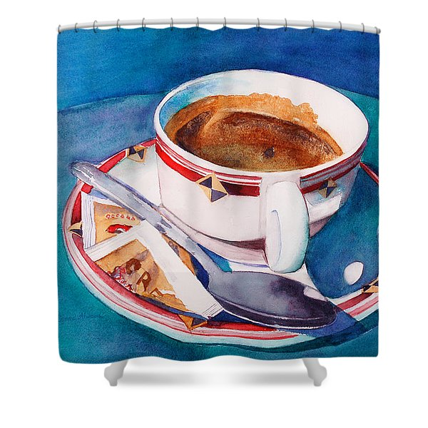 Cafe Con Leche Shower Curtain