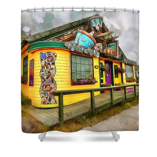 Cafe Cups Shower Curtain