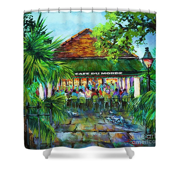 Cafe Du Monde Morning Shower Curtain