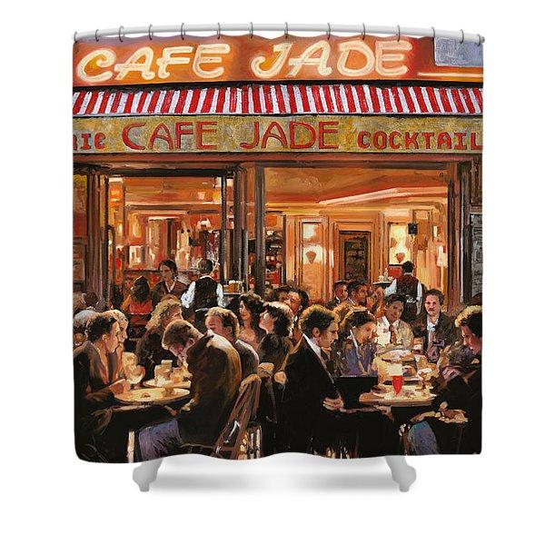 Cafe Jade Shower Curtain