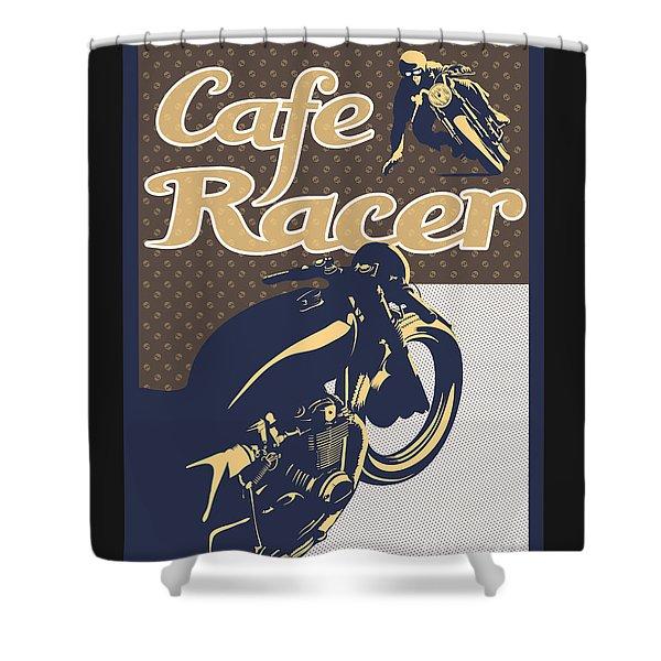 Cafe Racer Shower Curtain