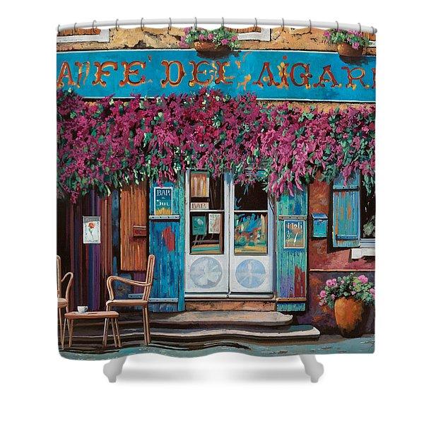 caffe del Aigare Shower Curtain