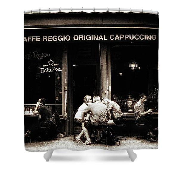 Caffe Reggio Scene Shower Curtain