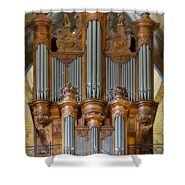 Cahors Cathedral Organ Shower Curtain