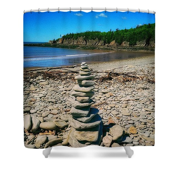 Cairn In Eastern Canada Shower Curtain