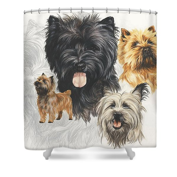 Cairn Terrier Revamp Shower Curtain
