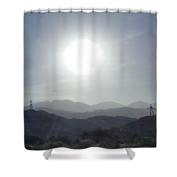 Cajon Pass Sunset Shower Curtain