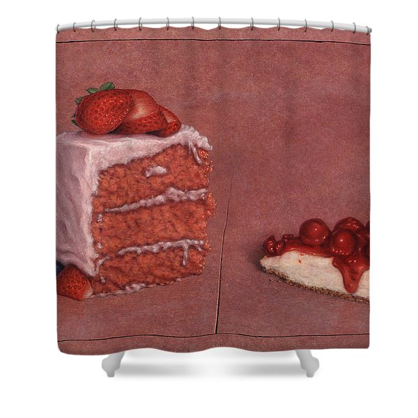 Cakefrontation Shower Curtain