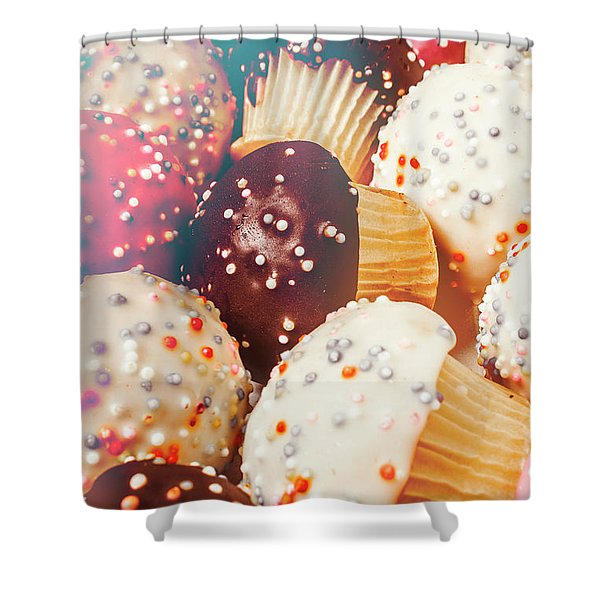 Cakes Of Confection Shower Curtain
