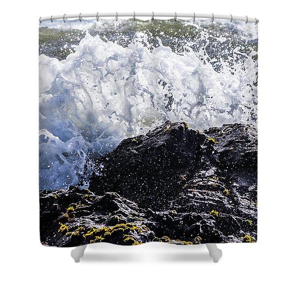 California Coast Wave Crash 4 Shower Curtain