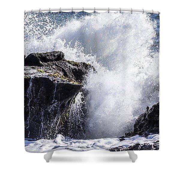 California Coast Wave Crash 6 Shower Curtain