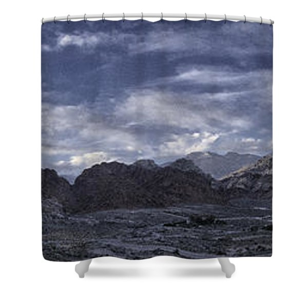 Calico Basin Panorama Shower Curtain
