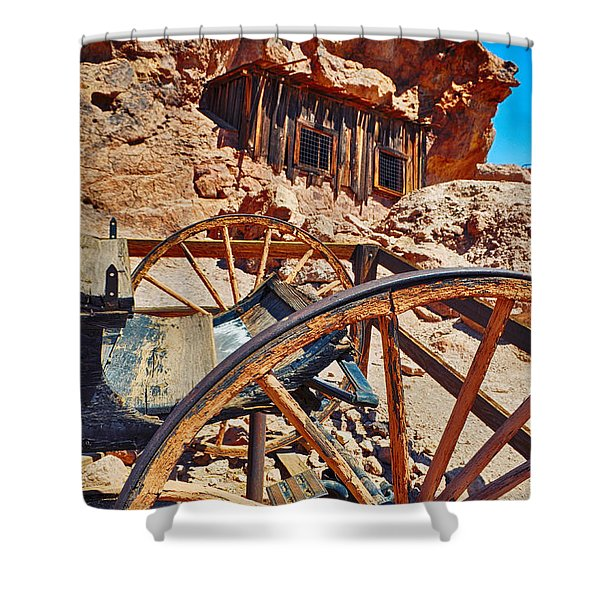 Calico Ghost Town Mine Shower Curtain