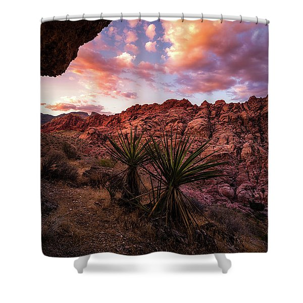 Calico Sunset Shower Curtain