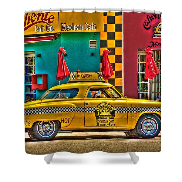 Caliente Cab Co Shower Curtain