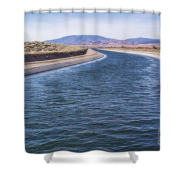 California Aqueduct S Curves Shower Curtain