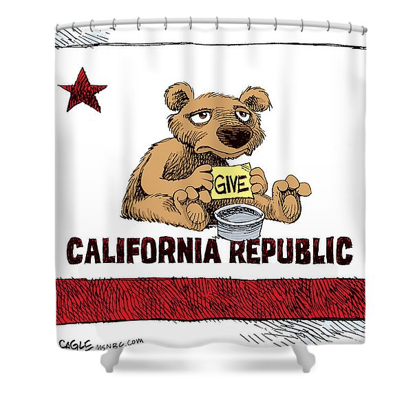 California Budget Begging Shower Curtain