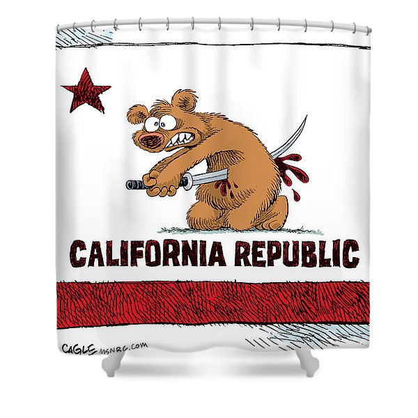 California Budget Harakiri Shower Curtain