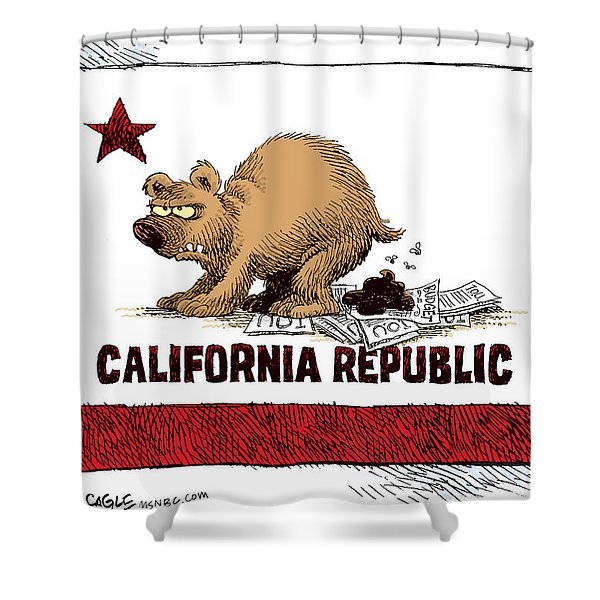 California Budget Iou Shower Curtain