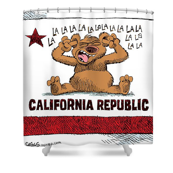 California Budget La La La Shower Curtain