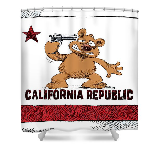 California Budget Suicide Shower Curtain