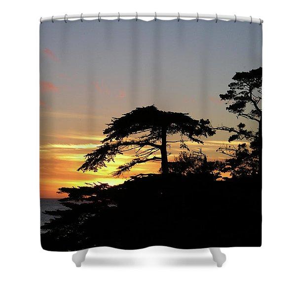 California Coastal Sunset Shower Curtain