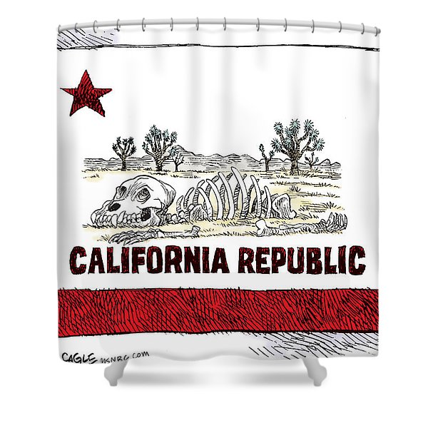 California Drought Shower Curtain