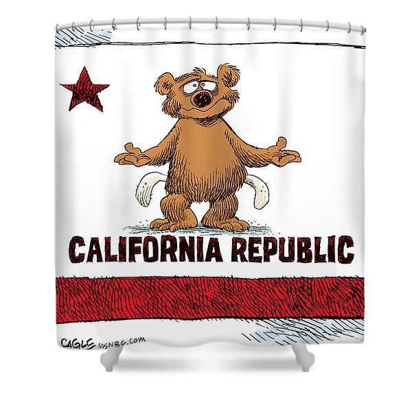 California Empty Pockets Shower Curtain