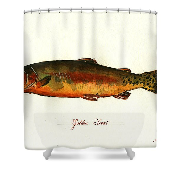 California Golden Trout Fish Shower Curtain