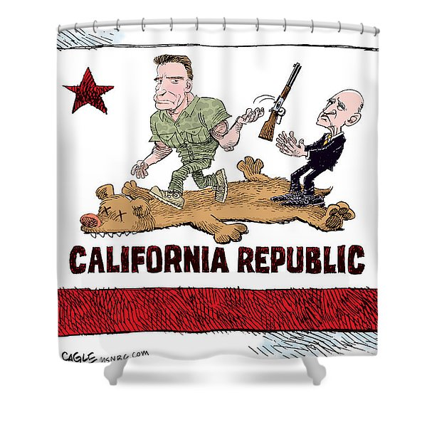 California Governor Handoff Shower Curtain