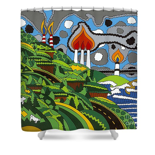 California Highway 1 Shower Curtain