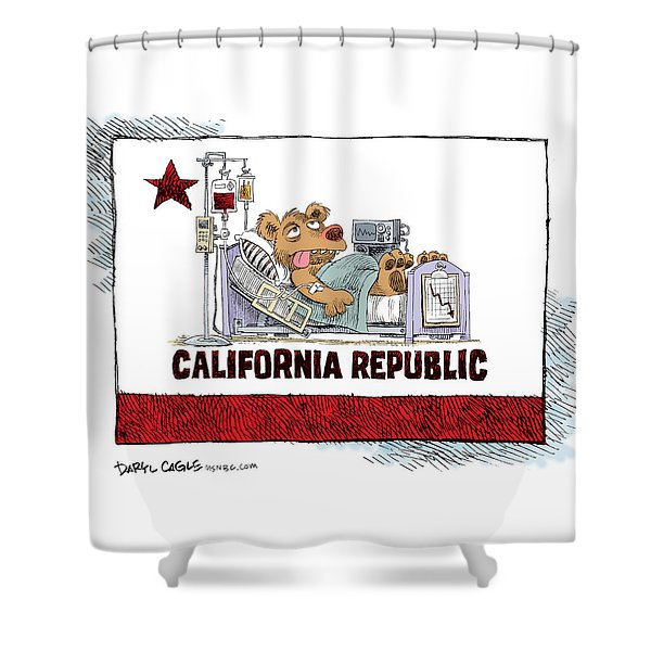 California Is Sick Shower Curtain