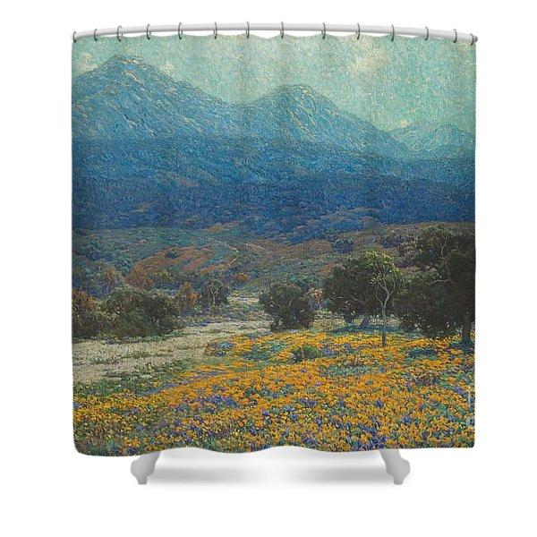 California Poppy Field Shower Curtain