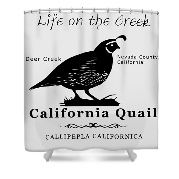 California Quail - White Shower Curtain