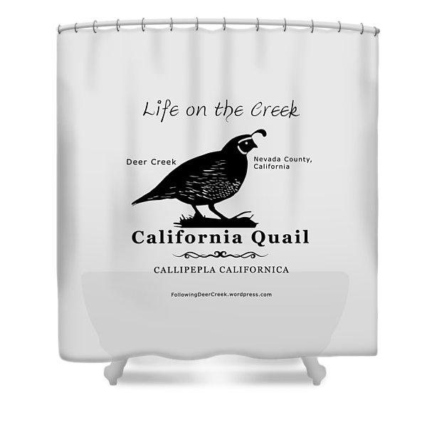 California Quail - White Shower Curtain